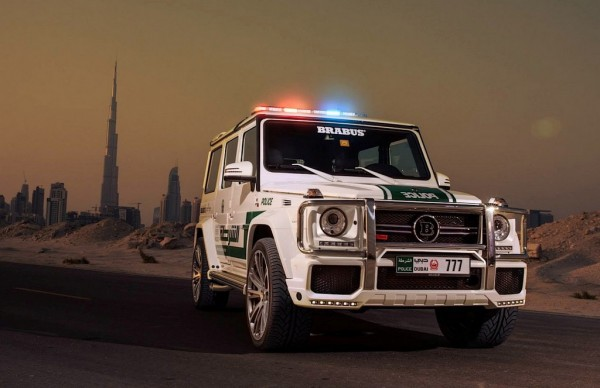 Dubai Police Brabus G63 AMG 1 600x388 at Dubai Police Brabus G63 AMG Revealed