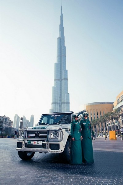 Dubai Police Brabus G63 AMG end 400x600 at Dubai Police Brabus G63 AMG Revealed