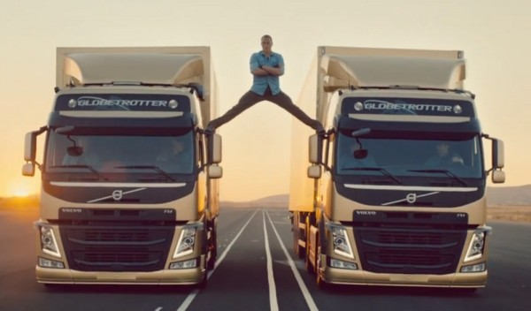 van damme volvo epic split 600x352 at Epic Split: Jean Claude Van Damme Stars in Volvo Trucks Ad