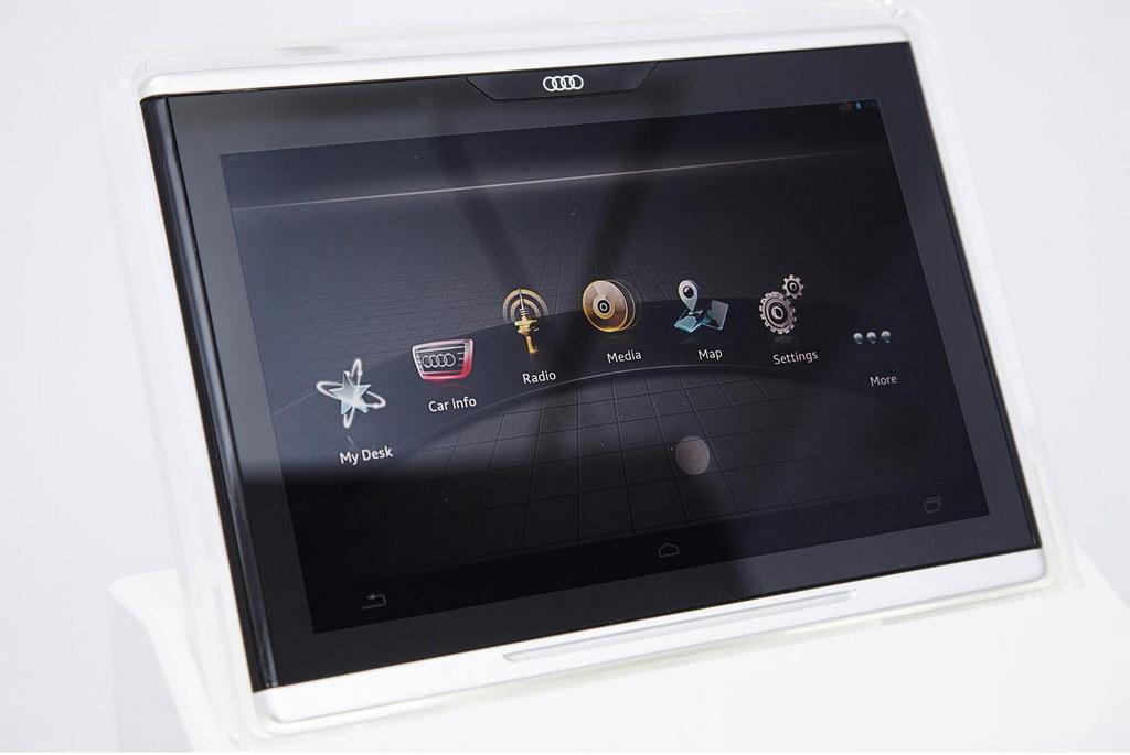 Audi Tablet top at Audi Tablet Lets Passengers Control Your Car's Features
