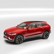 Jaguar C X17 Red 1 175x175 at Jaguar C X17 SUV Shows Up at Brussels Auto Show in Red