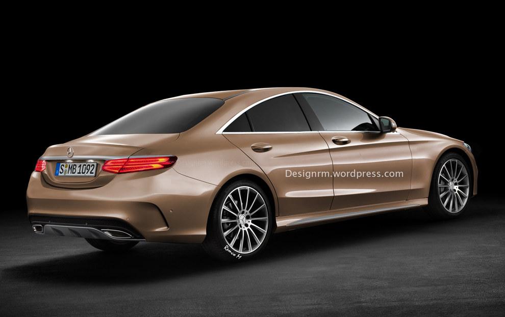 Rendering: Mercedes C-Class Four-door Coupe
