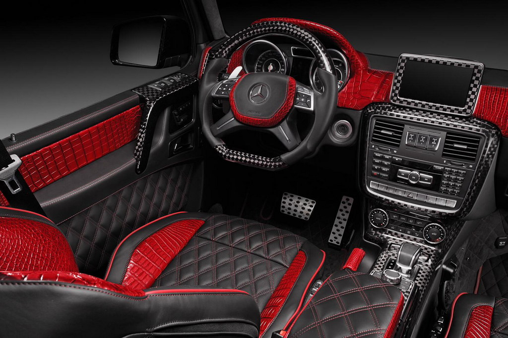 Topcar Mercedes G65 Amg Interior With Red Crocodile Leather