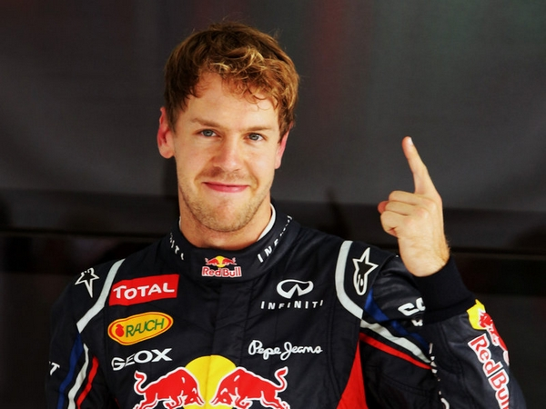 Sebastian Vettel at Formula One Champions that Weren't Favorites Before the Last Race of the Season
