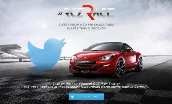 Peugeot RCZ R Twitter Challenge 600x364 at Peugeot RCZ R Twitter Challenge Is Your Ticket to the 'Ring
