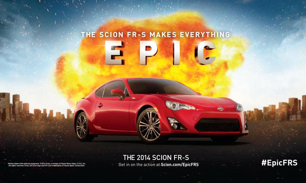 Scion FRS Epic Flyer at Scion FR S Epic Contest Is Your Way to Comic Con