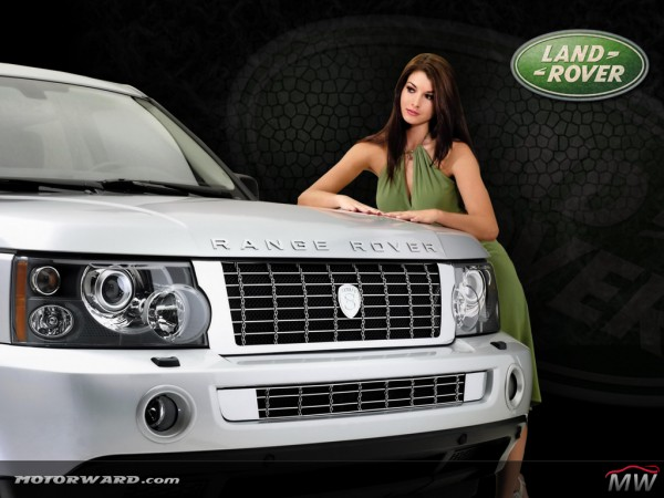 Land Rover 1024x768 Girl 600x450 at Land Rover History and Photo Gallery