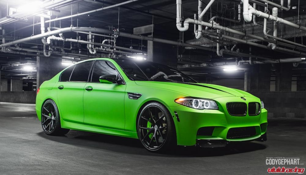 Vivid Racing BMW M5 F10 In Toxic Green