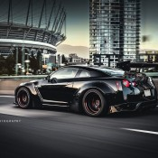 Liberty Walk Nissan GTR in Black