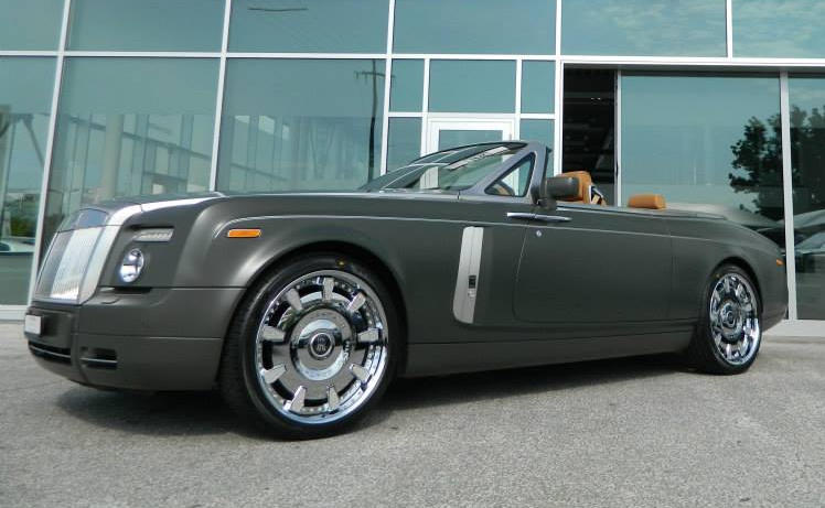 Matte Green Rolls Royce Drophead Is Fit For A Military