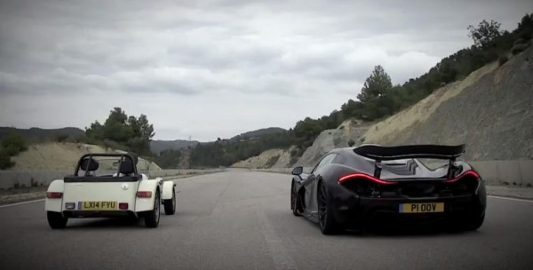 P1 vs Caterham 600x304 at The Difference Between a Fast Car and a McLaren P1