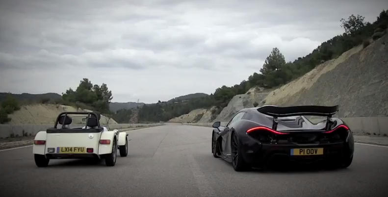 P1 vs Caterham at The Difference Between a Fast Car and a McLaren P1