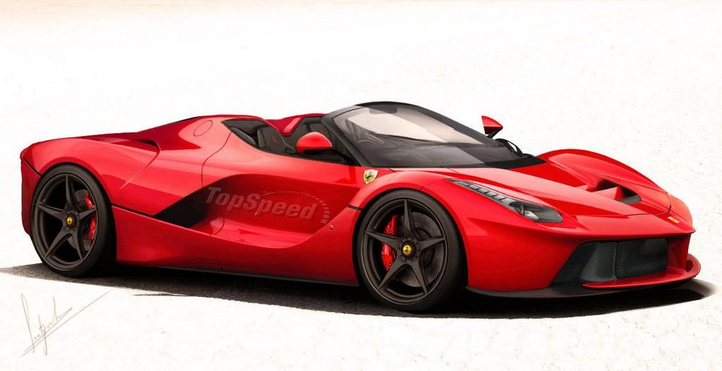 Ferrari Laferrari Spider Rendering Seems Spot On