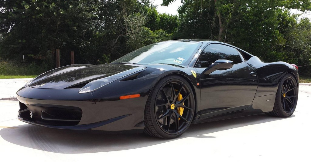 Black on Black Ferrari 458 Italia by M2K Motorsports