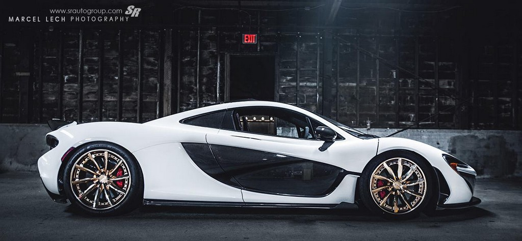 Sr Auto Mclaren P1 On Gold Pur Wheels