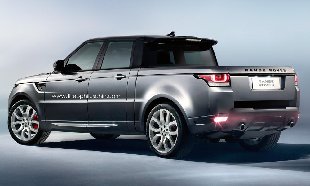 Rendering Range Rover Sport Pickup Truck