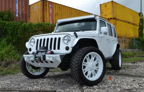 mc customs wrangler white 0 600x383 at Matte White Jeep Wrangler Rubicon by MC Customs