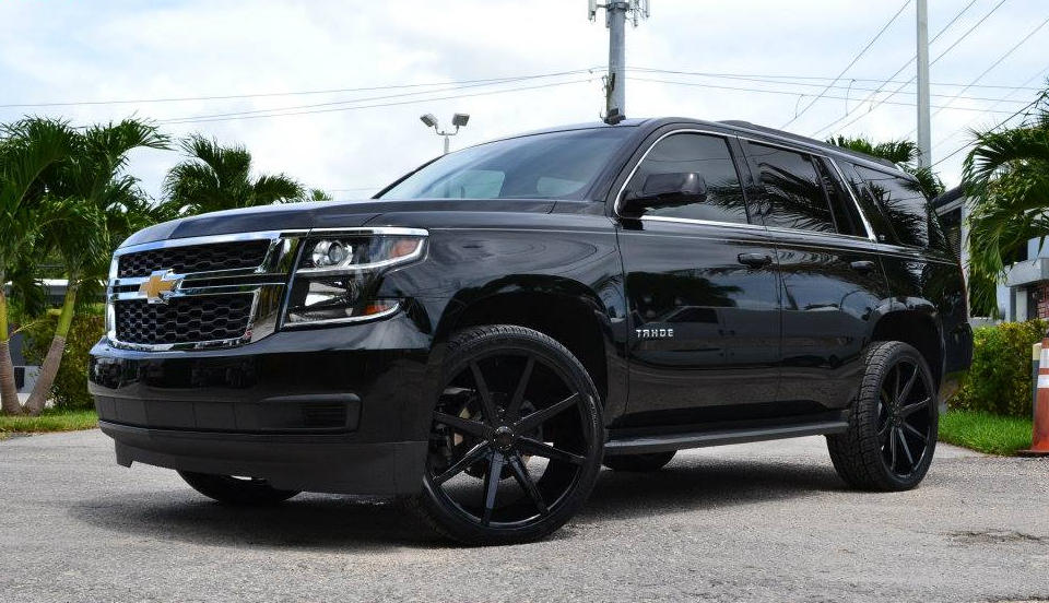 Murdered Out Chevrolet Tahoe By Mc Customs And Dub