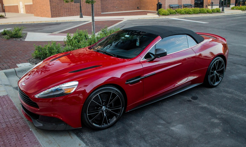 Beautiful Beast Red Aston Martin Vanquish Volante