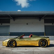 Robinson Cano Gold Ferrari 458 10 175x175 at Robinson Cano's Gold Ferrari 458 by MC Customs