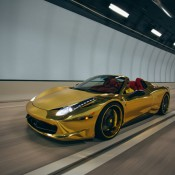 Robinson Cano Gold Ferrari 458 2 175x175 at Robinson Cano's Gold Ferrari 458 by MC Customs