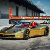Robinson Cano Gold Ferrari 458 6 175x175 at Robinson Cano's Gold Ferrari 458 by MC Customs