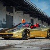Robinson Cano Gold Ferrari 458 8 175x175 at Robinson Cano's Gold Ferrari 458 by MC Customs