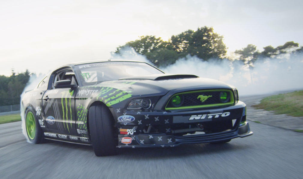 Vaughn Gittin Jr Drifts His Mustang Across France