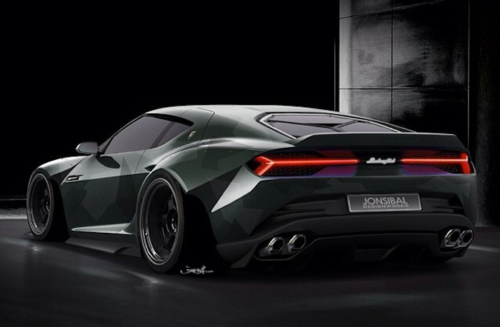 Rendering Lamborghini Asterion Wide Body