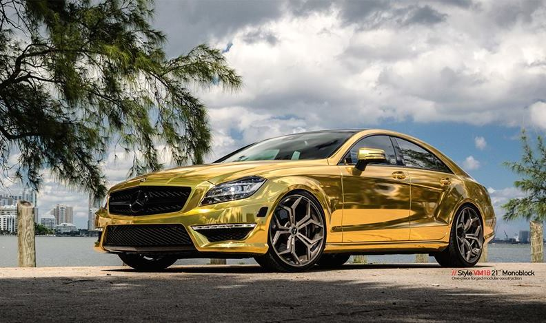 Gold Mercedes Cls63 Amg By Mc Customs