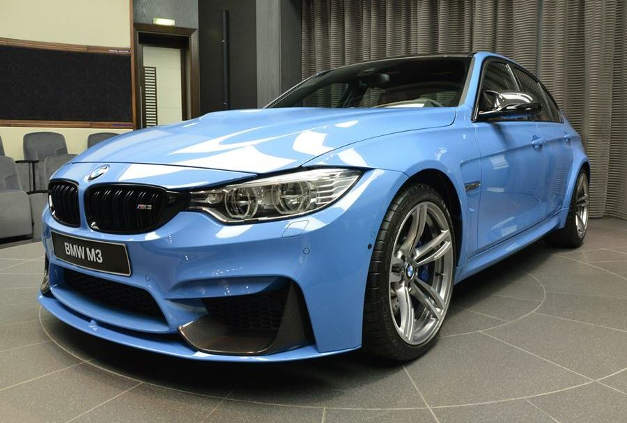 Yas Marina Blue Bmw M3 With M Performance Kit