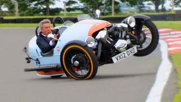 tiff drift 600x337 at Watch Tiff Needell Almost Kill Himself Drifting a Morgan 3 Wheeler!