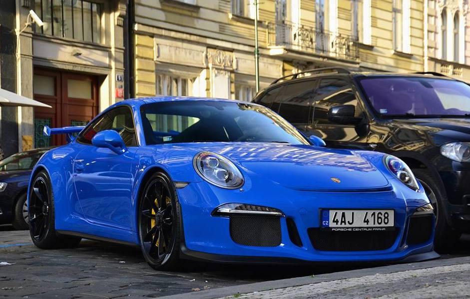 Blue Porsche 991 Gt3 Spotted In Czech Republic
