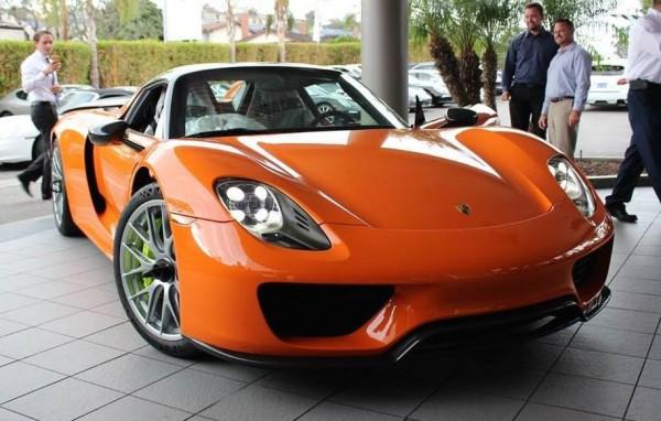 Orange Porsche 918 Spyder 0 600x382 at Gallery: Orange Porsche 918 Spyder