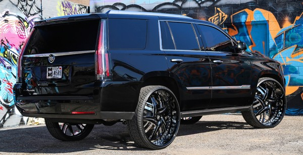 Cadillac Escalade on 30-inch Forgiato Wheels Bugatti 2014 Chrome