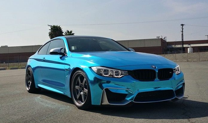 Chilling Ice Blue Chrome Bmw M4