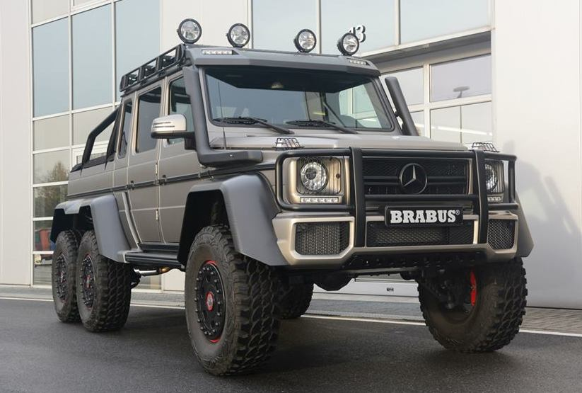 Brabus Mercedes G63 6x6 With Off Road Gear