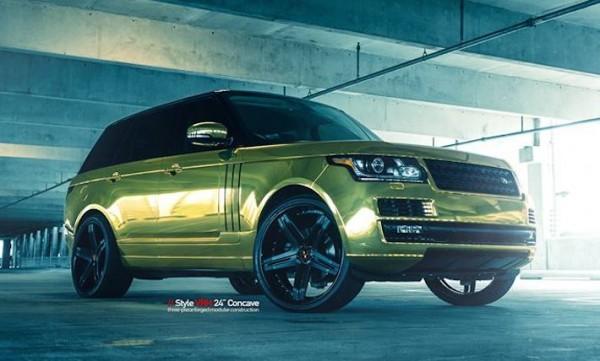 """Golden Range Rover 0 600x361 at Golden Range Rover on 24"""" Vellano Wheels"""