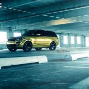 """Golden Range Rover 1 175x175 at Golden Range Rover on 24"""" Vellano Wheels"""