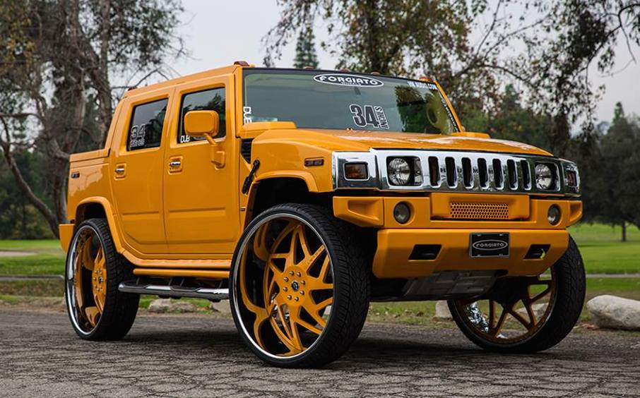 Hummer H2 34 0 at Hummer H2 on 34 inch Forgiato Wheels!