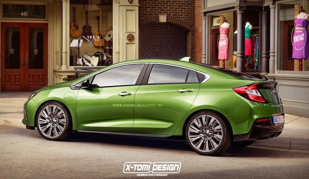New Opel Ampera Rendered Based on 2016 Chevy Volt