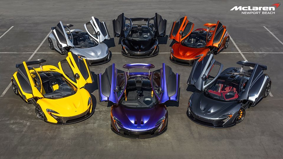 McLaren P1 Rainbow at McLaren Newport