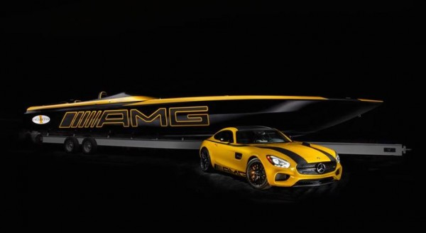 AMG GT Cigarette Boat 0 600x328 at Mercedes AMG GT Cigarette Boat Unveiled in Miami