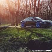 Blue Wheeled Porsche 991 GT3 4 175x175 at Blue Wheeled Porsche 991 GT3 by EVS Motors