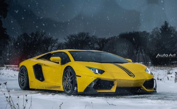 Lamborghini Aventador Snow Plow 0 600x369 at Lamborghini Aventador Snow Plow by Auto Art Chicago