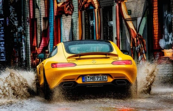 Mercedes AMG GT Splash 0 600x387 at Gallery: Mercedes AMG GT Makes a Splash in Berlin