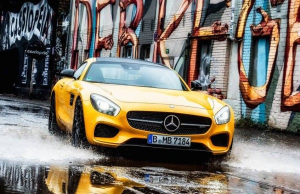 Mercedes AMG GT Splash 00 600x388 at Gallery: Mercedes AMG GT Makes a Splash in Berlin