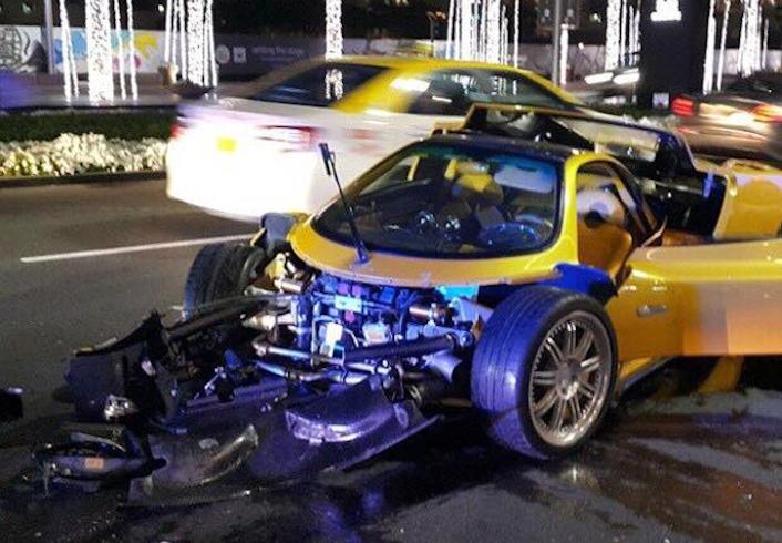 Unique Pagani Zonda C12 F Wrecked In Dubai