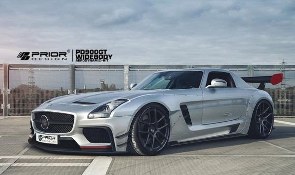 Prior Design Mercedes SLS 1 600x357 at Prior Design Mercedes SLS Wide Body Kit