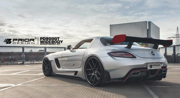 Prior Design Mercedes SLS 3 600x328 at Prior Design Mercedes SLS Wide Body Kit